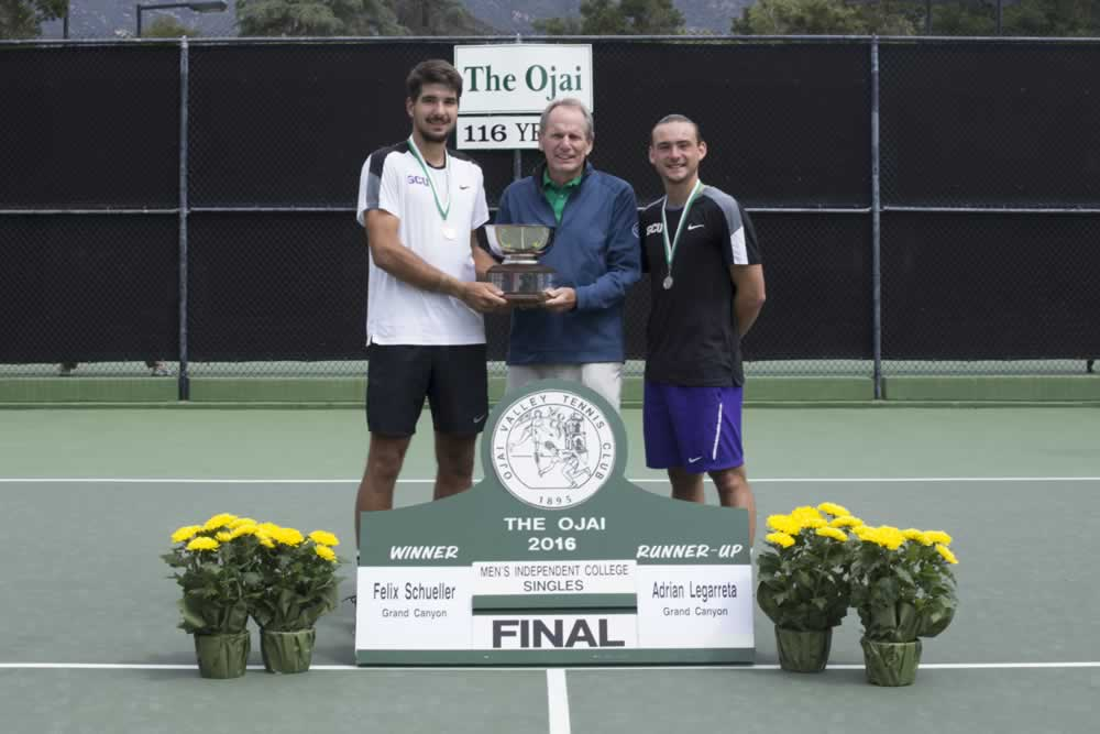 ojai single men An errant lob by leibman gave cam entry into the ojai singles final,  right next to the pac-10 men's singles final and then the open men's singles final.